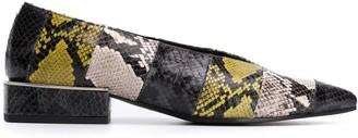 Vic Matié snakeskin effect ballerina shoes