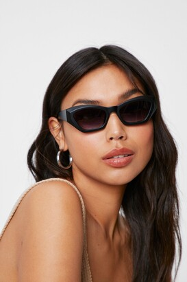 Nasty Gal Womens Take Me to Funky Town Thick Tinted Sunglasses - Black - One Size