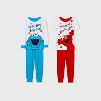 Sesame Street Toddler Boys' 4pc Pajama Set -