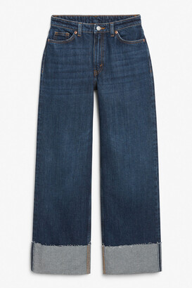 Monki Indigo wide leg jeans