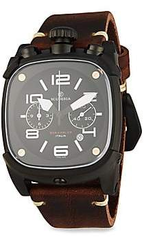 CT Scuderia Scrambler Stainless Steel Leather Strap Analog Watch