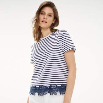 Tommy Hilfiger Lace Hem Organic Cotton T-Shirt