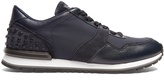 Tod's Leather and suede low-top trainers