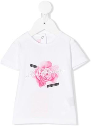 Miss Blumarine rose print T-shirt