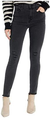 J Brand Leenah High-Rise Ankle Skinny in After Hours Destruct