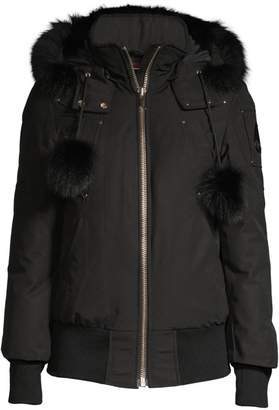 Moose Knuckles Debbie Fur-Trim Hooded Bomber