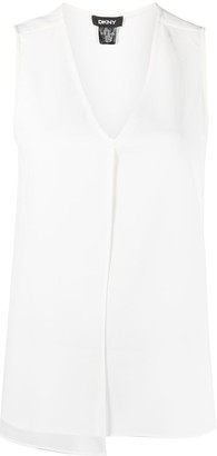DKNY sleeveless V-neck blouse