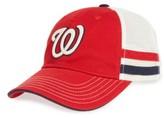 American Needle Men's Foundry Mlb Snapback Trucker Hat - Red
