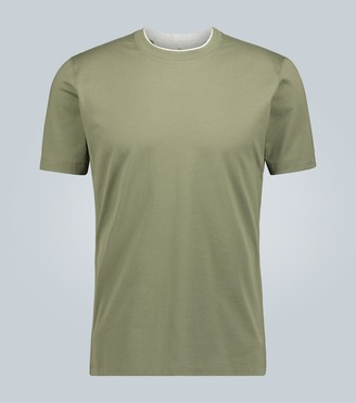 Brunello Cucinelli Slim-fit double-collar T-shirt
