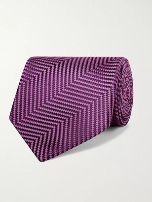 Charvet 8.5cm Herringbone Silk-Jacquard Tie