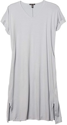 Eileen Fisher V-Neck Short Sleeve Dress (Dawn) Women's Dress