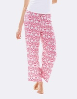 Deshabille Hope Crop Pant In Bag Pink&White