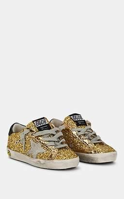 Golden Goose Kids' Superstar Glitter Sneakers - Gold