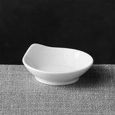 Crate & Barrel Porcelain Mini Round Grip Dish