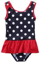 BeautyIn Kids Swim Suit Baby Girls Cute Dots All in One Swimwear 6-9 months
