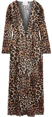 Leone We Are Leopard-print Silk-chiffon Robe