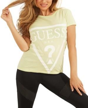 GUESS Logo Print Cotton T-Shirt