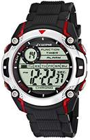 Calypso Men's Digital Watch with LCD Dial Digital Display and Black Plastic Strap K5577/4