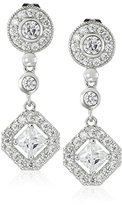 Cara Round Top with Diamond Drop Pave Drop Earrings