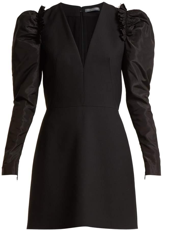 Alexander McQueen V-neck wool-blend dress