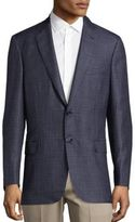 Brioni Check Long Sleeve Sportcoat
