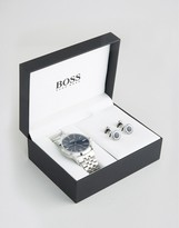 HUGO BOSS BOSS By Stainless Steel Bracelet Watch & Cufflink Gift Set