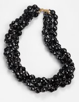 Kenneth Jay lane 4-Row Black Crystal Bead Necklace