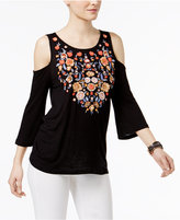 INC International Concepts Cold-Shoulder Top, Only at Macy's