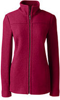 Classic Women's Petite Boiled Wool Jacket-Washed Cobalt