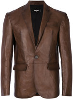 DSQUARED2 faded blazer - men - Cotton/Calf Leather/Polyester - 50