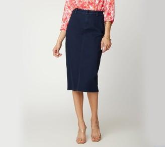 NYDJ Midi_Skirt with Braided Belt Loops - Rinse