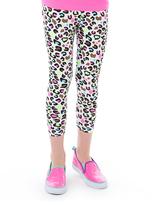 LittleMissMatched Black & Pink Leopard Leggings