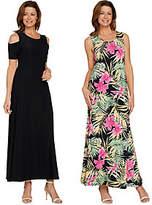 Attitudes by Renee Regular Solid & Printed Set of 2 Dresses