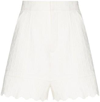 Chloé Scalloped Jacquard Shorts