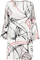 Raoul Bonnie printed silk mini dress