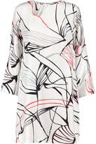 Raoul Bonnie washed-silk mini dress