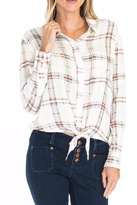 Olivaceous Plaid Tie Top