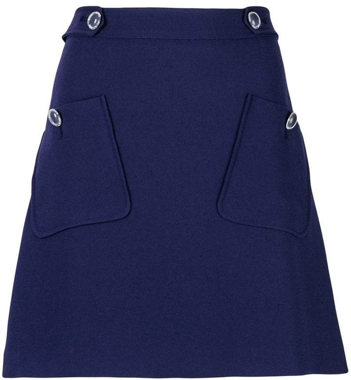 Moschino patch pocket A-line skirt