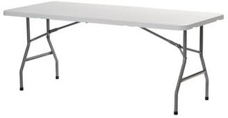 """Sandusky 72"""" x 30"""" Plastic Folding Table, White"""