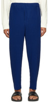 Issey Miyake Homme Plisse Blue Tapered Cropped Trousers
