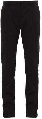 Proenza Schouler Press-studded Slim-fit Stretch-cotton Trousers - Black