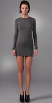 T By Alexander Wang Stretch Long Sleeve Dress