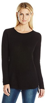 Colourworks Colour Works Women's Long Sleeve Asymmetrical Rib Pullover