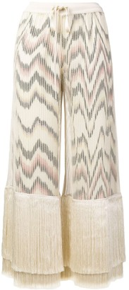 Missoni Fringe Cropped Trousers