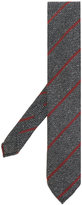 Lardini stripe embroidered tie