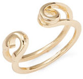 BCBGeneration Pearl Group Open Cuff Ring
