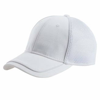 Jeff & Aimy Breathable Trucker Baseball Cap Athletic Adjustable Size Summer Sun Dad Hat White