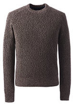 Classic Men's Tall Cotton Drifter Saddle Crew Shaker Marl Sweater-Coffee Bean Marl