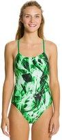 Nike Swim Kaleidotech Cut Out Tank One Piece Swimsuit 8114691