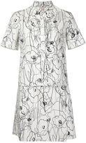 Jason Wu scribble flower print shirt dress